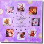 For Love Quotation Clock with 8 Photos Frame - image