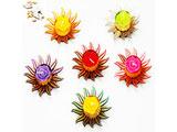 Set of 6 Colourful Floating T-Lites with1000 gms kaju Katli