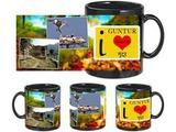 I Love Guntur Black Mug