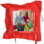 Customized Red Button Pillow Cover with Pillow - image