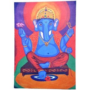 Wood Mounted Canvas of Sri Ganesh - image